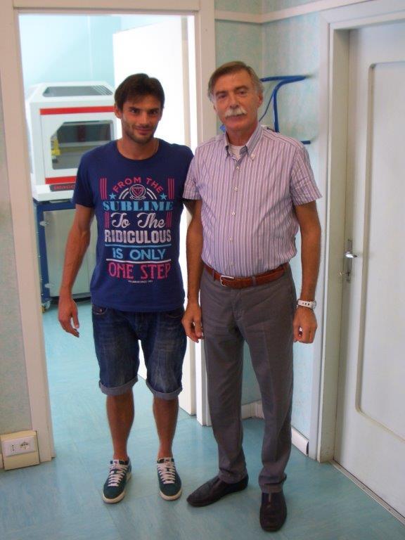 MARCO ZAMBELLI CAPITANO AC BRESCIA CALCIO 2013 CON IL NS T.ORTOPEDICO SIG CASTELLETTI