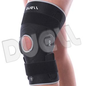 """Limitazione dell'estensione e della flessione da 0 a 90°. Cinturini elastici di sostegno posizionabili a piacimento. Possibilità di calibrare la posizione degli snodi articolari sulla ginocchiera grazie al sistema """"Easy Control""""."""