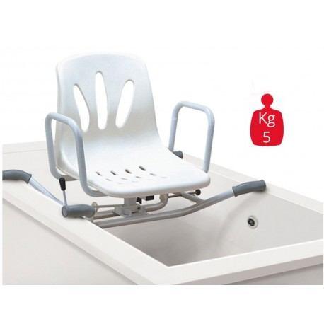 sedia seggiolino girevole 360 gradi per vasca da