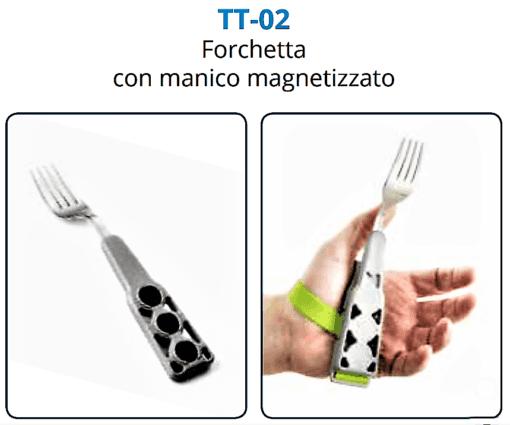Elemento Forchetta TACTEE presa con struttura palmare magnetizzata