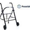 Deambulatore ROLLATOR Pieghevole RP675 2 Ruote e 2 Puntali - POSEIDON